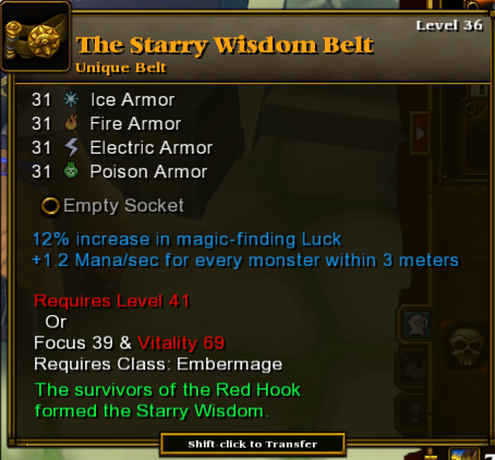 The Starry Wisdom Belt