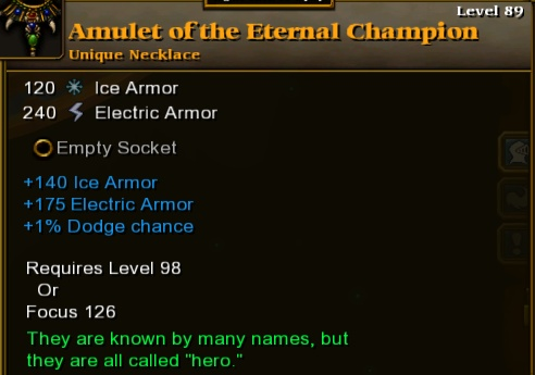 Amulet of the Eternal Champion