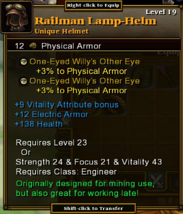 Railman Lamp-Helm
