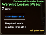 Warming Leather Plates