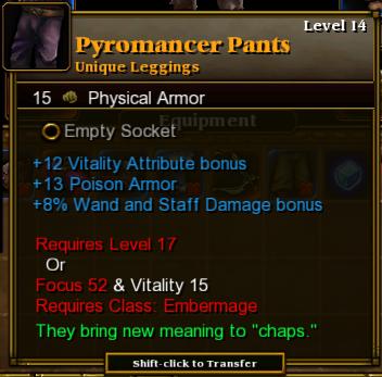 Pyromancer Pants