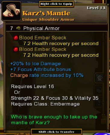 Karz's Mantle
