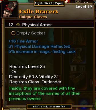 Exile Bracers