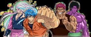 The Four Heavenly Kings: Sunny, Toriko, Zebra and Coco