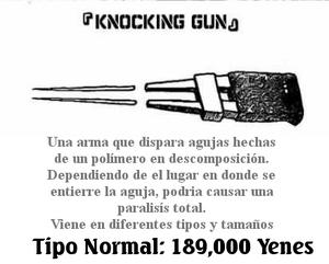 Knocking gun