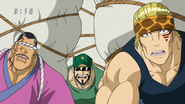 Kurakage, Horis and Rikiya surprised by Buranchi's speed
