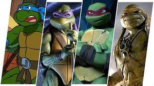 TMNT Evolution in Movies, Cartoons & TV (Teenage Mutant Ninja Turtles)