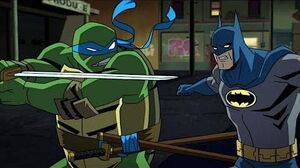 Batman vs TMNT Fight Scene