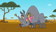 Surfers rhino selfie