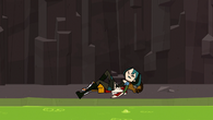Gwen fells over Cameron