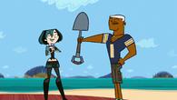 Lightning gives a shovel to Gwen