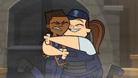 Cadets hug