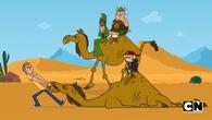 Gracze i Ojciec z synem na wielbłądach