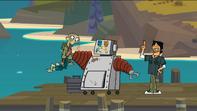 S05E01Ezekiel złapany przez robota