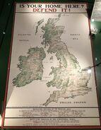 British Army recruitment map from World War I