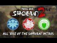 Total War- Shogun 2 - All Rise of the Samurai Clan Briefings - Intros