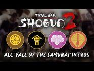 Total War- Shogun 2 - All Fall of the Samurai Clan Briefings - Intros