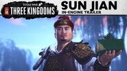 Total War THREE KINGDOMS – Sun Jian In-Engine Trailer