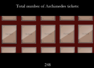 Archimedes' tickets