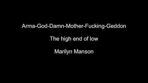 Marilyn Manson Arma God Damn Mother Fucking Geddon