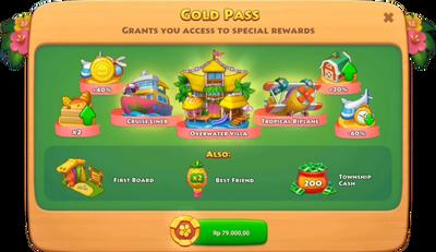 Beach Vacation Gold Pass Rewards