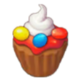 Muffin Strawberry Cream Candy Whipped Cream.png