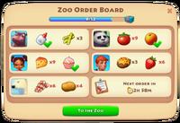 Zoo Order Board 2
