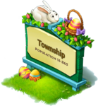 Easter Town Sign