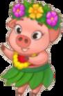 Hawaiian Piggy Sticker