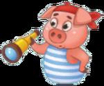 Spunky Pig Sticker