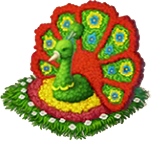 Peacock Flower Bed