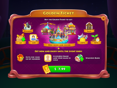 The Great Gatsby Gold Pass Rewards