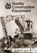 A 1970s Whitlock Brothers 50R Crawler Excavator