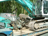 Demolition rotary grab