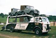 A 1950s LEYLAND Beaver LAND ROVER model transporter
