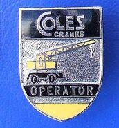 COLES Cranes Emblem after 1950