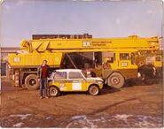 ALLEN-GROVE H2564 Cranetruck 6X4 Diesel operating