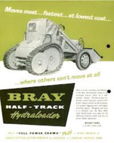 A 1960s BRAY Halftrack Roadless Hydraloader