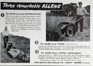 A 1950s Allen Of Oxford Motorscythes model range