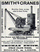 A 1890 Smith Of Rodley Steam Shunting Crane