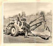 A 1950s Whitlock Brothers 105 Roadless Backhoe Diesel