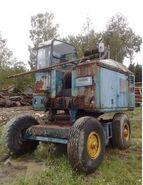 A 1960s NEALS NS45 Yardcrane Diesel awaiting restoration