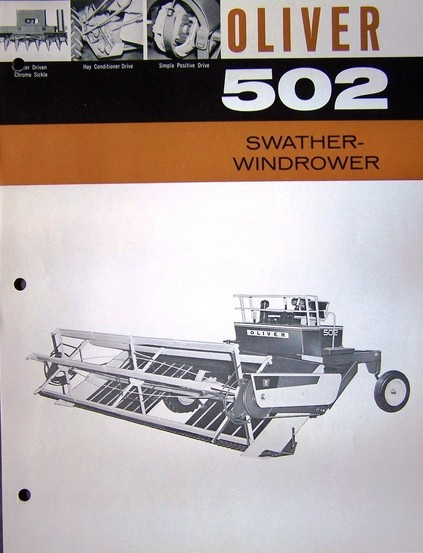 Oliver 502 swather