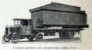 A 1920s Scammell Cargolorry and Trailer petrol engined