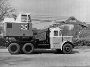 A 1950s NEAL Mobilecrane Crane on Leyland Super Hippo