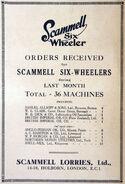 A 1920s Scammell Road Models Original Catalogue
