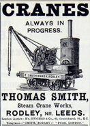 A 1880s Smith Of Rodley Steam Yardcrane