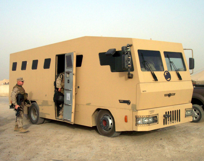 Armoured bus