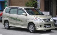 Toyota Avanza (first generation, first facelift) (front), Serdang