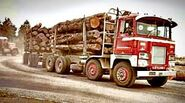 A 1970s LEYLAND Crusader Diesel Logging Truck